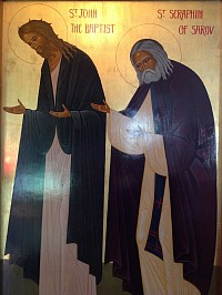 Saints John Baptist and Seraphim of Sarov